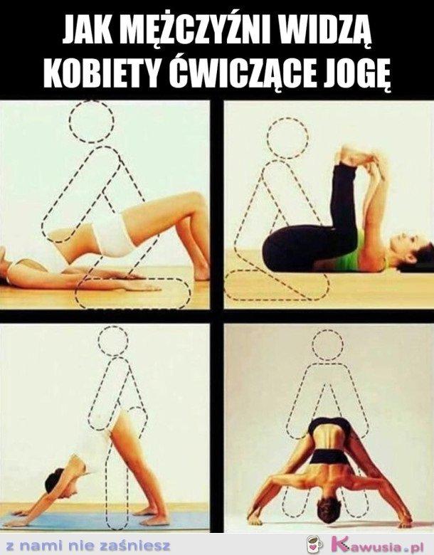 Jak Twój facet widzi joge ;)