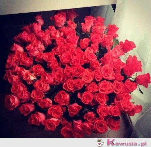 Piękny bukiet róż