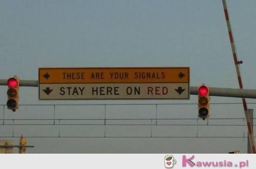 Stój kiedy czerwone