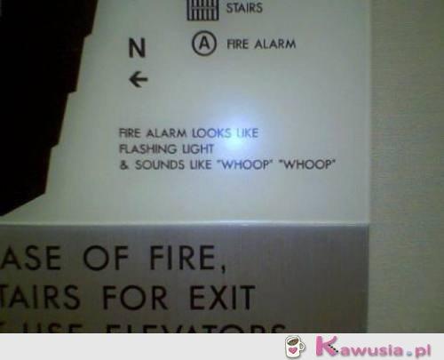 Alarm przecwpo�arowy...