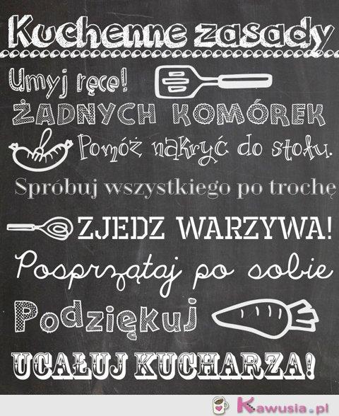 Kuchenne zasady