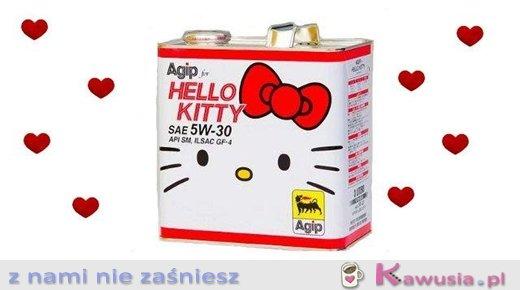 Olej w pojemniku hello kitty:)