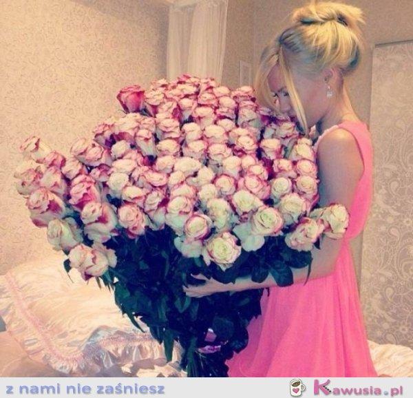 Ogromny bukiet róż!