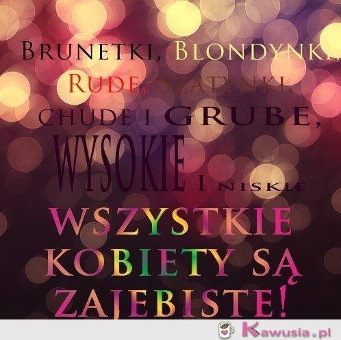 Brunetki, blondynki, rude, szatynki...