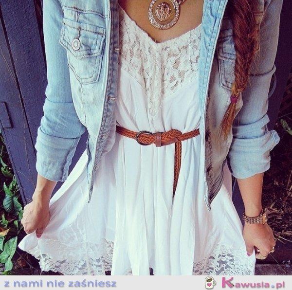 Cudna biała sukienka