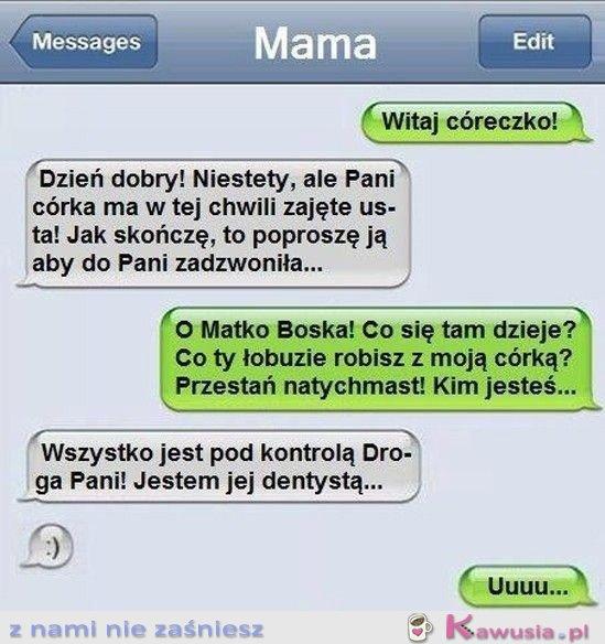 SMS do córki