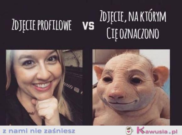 Zdjęcie profilowe vs...