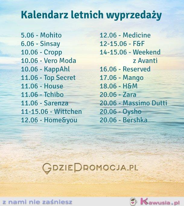 e040c825e6717 Kalendarz letnich wyprzedaży 2014 - Kawusia.pl - z nami nie zaśniesz