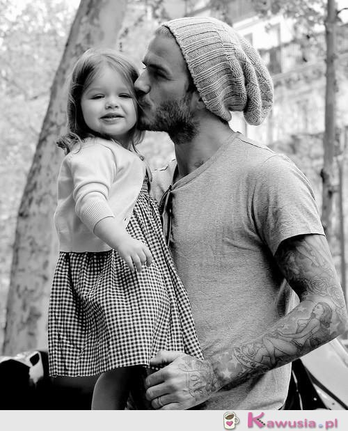David Beckham z córeczką