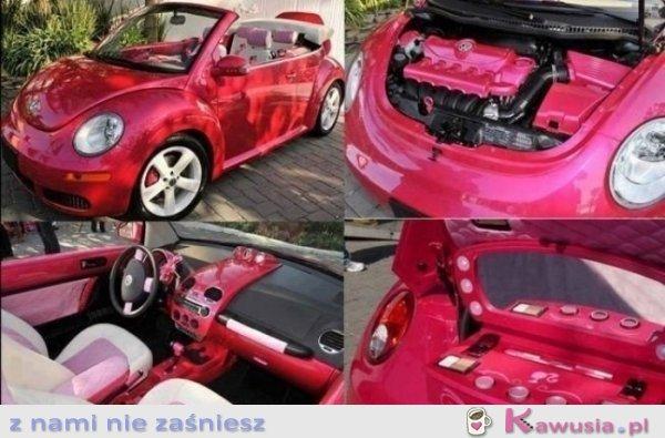 Różowe New Beetle
