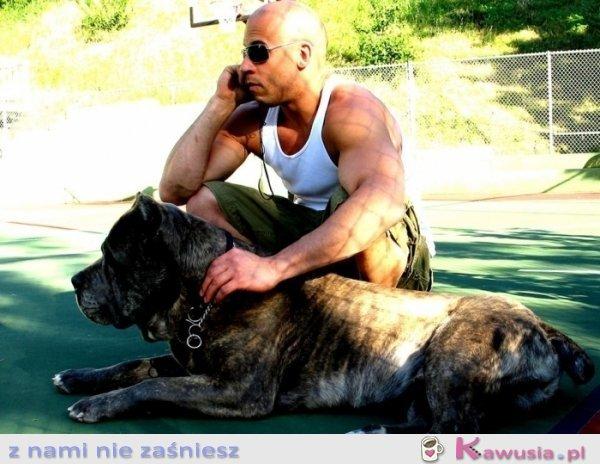 Vin Diesel z psem