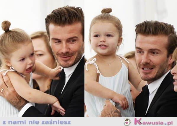 Fajna córeczka i przystojny tatuś