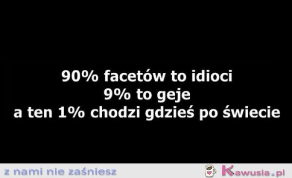 90% facetów to...