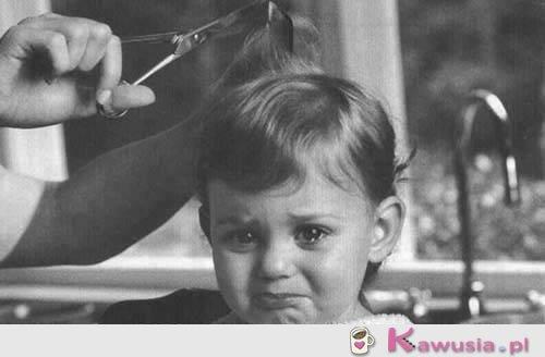 A u fryzjera wyglądam tak...