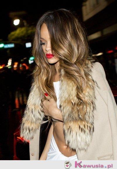 Rihanna i jej ombre hair