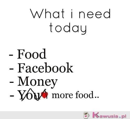 Czego mi dziś potrzeba