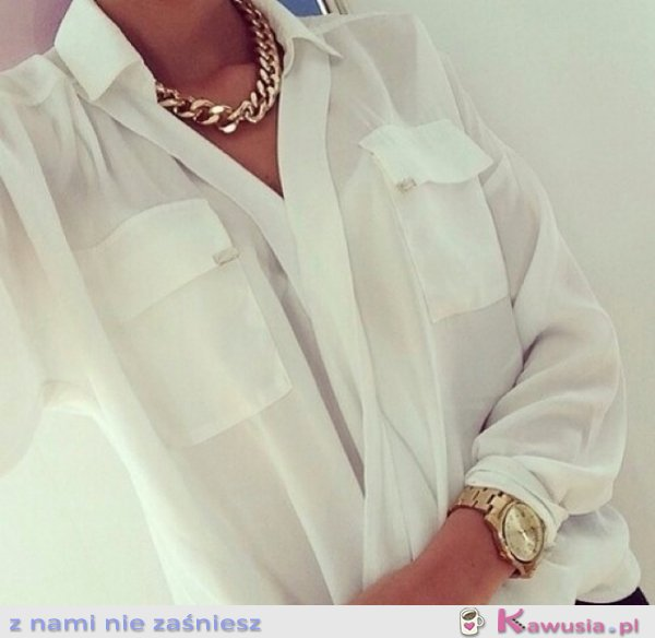 Transparentna, mleczna koszula