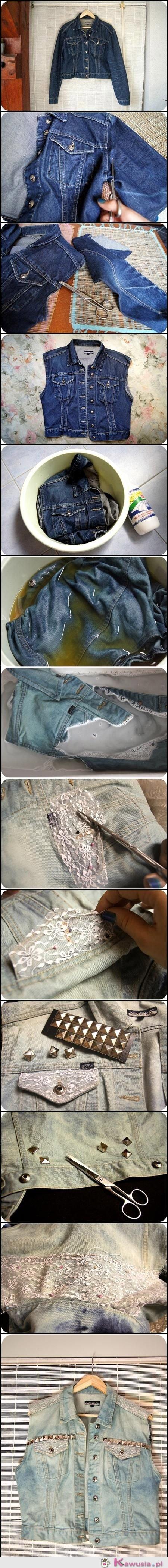 Sposób na starą jeansową kurtkę