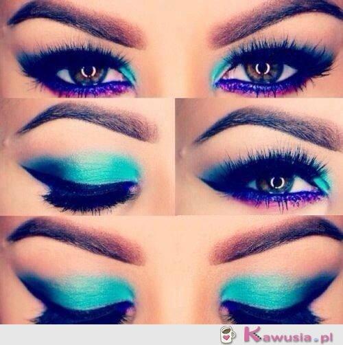 Turkusowy make up