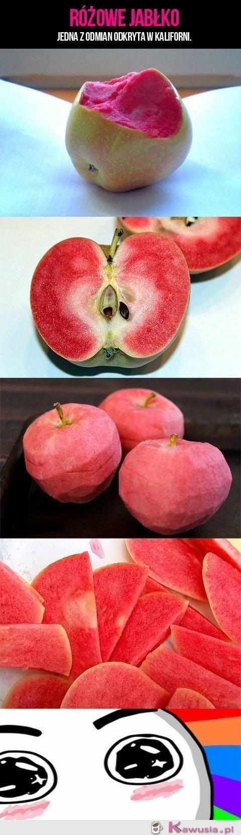 Różowe jabłko