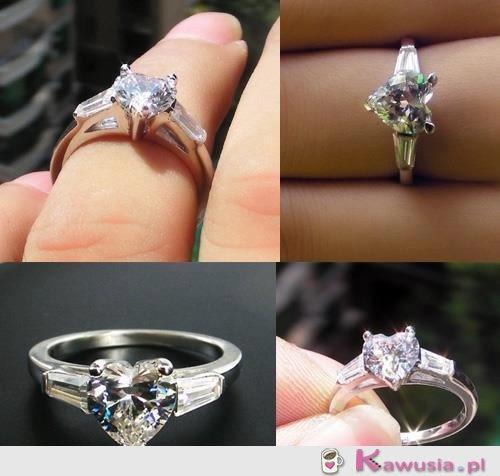 Piękny pierścionek serce