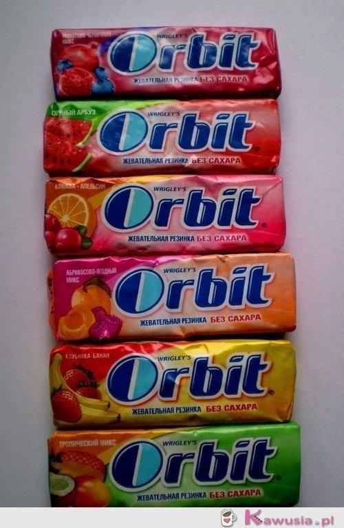 Niespotykane smaki gumy orbit