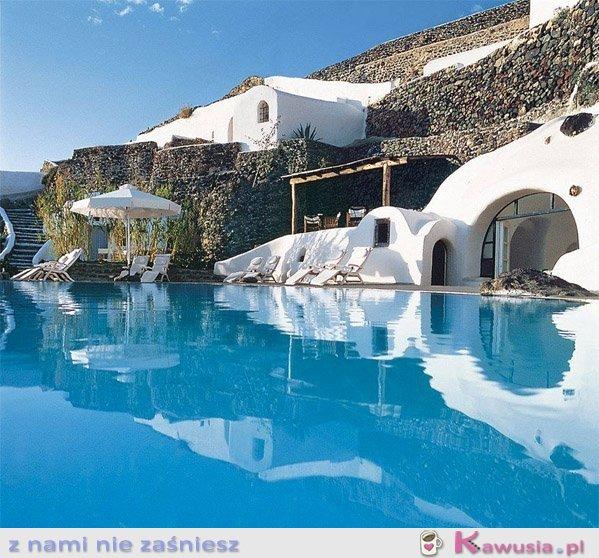 Piękne miejsce Santorini